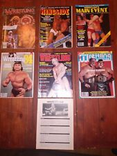 Vintage Wrestling Magazine Lot of 7 Pro Wrestling Illustrated Ringside 1981-1984