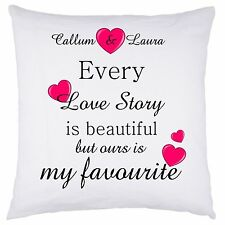 PERSONALISED cushion cover wedding Love story Birthday MOTHER'S Day gift