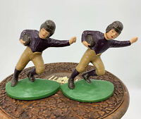 VINTAGE REPRODUCTION HUBLEY ANTIQUE CAST IRON FOOTBALL PLAYER BOOKEND/DOOR STOP