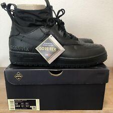 Nike Air Force 1 WTR GTX Gore-Tex Boots Triple Black CQ7211-003 Men's 12