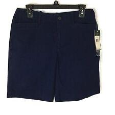 NWT $59 Women's Size 6 Lauren Jeans Co. Ralph Lauren Navy Blue Bermuda Shorts