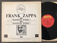 "Frank Zappa ""DANCIN' FOOL"" Promo 12"" Single 1979 Zappa Records MK-83"