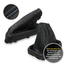 Schaltsack Schaltmanschette + Handbremssack für Opel Calibra 90-97 blaue Faden