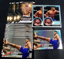 (16x) ALISTAIR OVEREEM TOPPS UFC LOT * 2015 Chronicles / 2018 Chrome