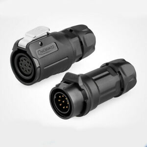 Waterproof Female Male Plug Fit Solar Port Waterproof 5A Signal 9 Pin Connectors