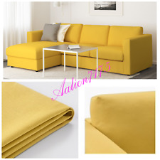 IKEA VIMLE Loveseat with Chaise & Armrests Slipcover Cover Orrsta Golden-Yellow