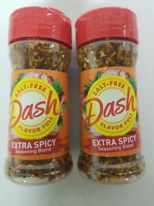 (2 Pack) Mrs Dash Extra Spicy Seasoning Blend 2.5oz, expiration 03/2023