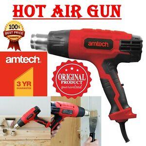 2000W Red Electric Heat Gun Hot Air Gun Dual Temperature Paint Stripper 4 Nozzle