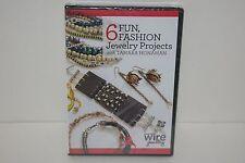 6 Fun Fashion Jewelry Projects (DVD, 2015) Wire Jewelry Tamara Honaman NEW!