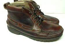 LL BEAN Allagash Bison Buffalo Leather Ankle Chukka Boots Men's Size 10.5 D
