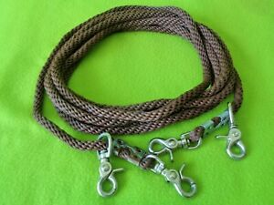 Top Quality 16-1/2' Round Braided Nylon DRAW REINS & Pulleys~HORSE TRAINING