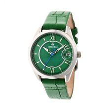 Empress Messalina MOP Dial Green Leather Women's Watch with Date EM2402