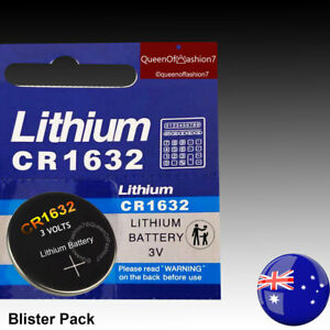 2 x CR1632 Battery Lithium Cell Button Batteries SUPER FAST Postage from Sydney