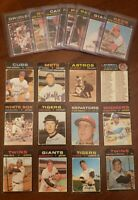 Lot Of 20 Low Grade 1971 Topps HOF Cards Robinson Concepcion Rose Yaz Stargell