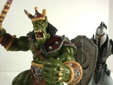 1998 WarCraft Blizzard HUMAN FOOTMAN & ORC GRUNT Figures Complete with Cardbacks