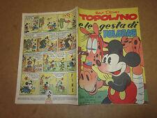 WALT DISNEY ALBO D'ORO N°101 TOPOLINO E LE GESTA DI FOLGORE 30-05-1951 1°RISTAMP