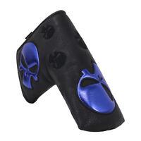Golf Black Blade Putter Cover Skull Cover For Odyssey Callaway Cobra Magnetic