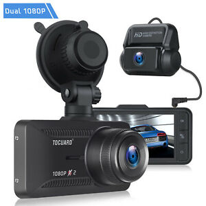 "TOGUARD Dual Dash Cam Front and Rear HD 1080P Dual Lens 3"" IPS Screen Car Camera"