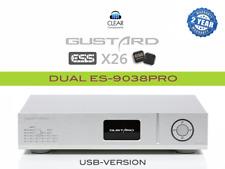 GUSTARD X26 SL* ES9038-PRO DSD DAC DIGITAL ANALOG CONV. USB DA WANDLER HIGHEND
