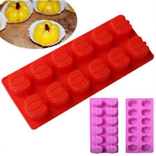 3D Halloween Pumpkin Silicone Fondant Cake Mold Chocolate Candy Baking Mould