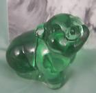 Внешний вид - Fenton Art Glass Pig Green Smiling Hog Figurine New circa 1997 Ol Store Stock