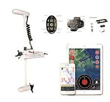 "HASWING GPS White 55LB 48"" Shaft TROLLING MOTOR  Rocord , Anchor lock +R+Q+Foot"
