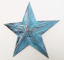 Medium wooden blue nautical hanging star wall art vintage style-39cm wide NEW