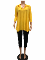 Women with Control Regular Crepe Jersey Knit Tunic and Crop Pants Small Size