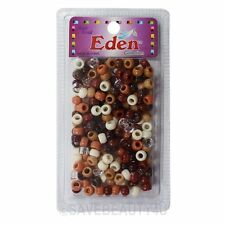 Hair Beads 9x6mm Pony Beads School Crafts Hair Kandi Jewelry -Brown Mix