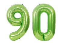 "Giant 40"" 90 Green Foil Number Balloons Photo Shoot 90th Birthday Float Helium"