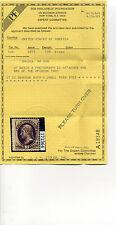 Scott #161 Jefferson Unused Stamp with Pf Cert (Stock #161-2)