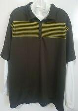 Nike Golf Men's 2 in 1 Dri-Fit Polo Large S/S Brown L/S White Mock Turtleneck