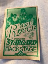 ROSE ROYCE - Stargard - backstage pass - Stanley Theater Pittsburgh PA - 1/9/79