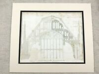 1826 Print Hampton Court Palace The Great Hall Roof Pugin Gothic Architecture