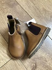 New NEXT Boys Toddler Brown Chelsea Boots Shoes Size UK 6 Infant EU 23