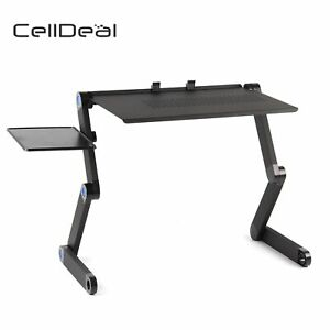 Laptop Desk Stand Table Tray For Bed Sofa Adjustable Portable Notebook Folding