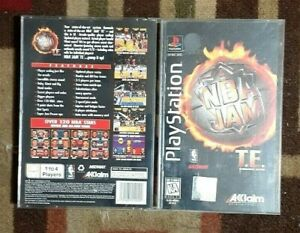 NBA Jam T.E. Longbox (Sony PlayStation 1, 1995) No Game Case & Manual Only