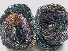Noro Silk Garden Mohair Wool Yarn Grey Orange Green Purple Per Skein 376 Lot A