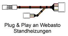 Plug & Play Anschlusskabel MicroGuard-USB für Webasto Standheizungen