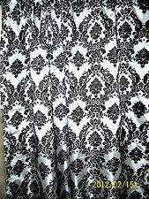 Damask Curtain 5 x 9 ft Backstage Photography Backdrop Black White Background