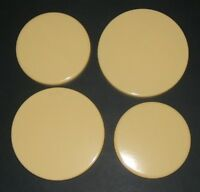 """New Set of 4 """"MUSTARD""""  Enamel Electric Oven Hob Covers - 2 x 16cm and 2 x 20cm"""