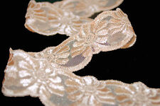 **** PEACH FLOWER LACE - 25mm Wide ****
