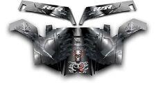 Polaris RZR 900 XP UTV Wrap Graphics Decal Kit 2011-2014 Turbo Charged Black
