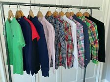 Ralph Lauren Polo Boys M 10-12 Shirt Lot Oxford Dress Plaid Sweater Crewneck Top