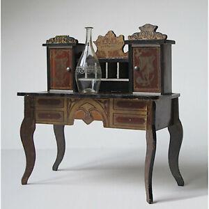 Antique Boulle Writing Desk with gilt stencil design