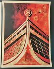 Shepard Fairey Glass Houses Canvas Signed #d/450 Obey Screen Print Poster 2010
