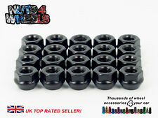 20 x Black Wheel Spacer Shallow Nuts M12x1.5 Fits Rover 200 400 25 City Rover
