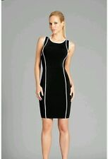 NWT GUESS BY MARCIANO BLACK Fabrice Piping Dress SIZE S