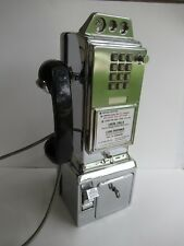 3 slot pay phone Chrome Touch tone payphone  Original working