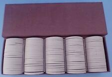 VINTAGE CLAY POKER CHIPS EWINGS GOOSE LAKE MUSIC FESTIVAL NOS BOX OF 100 WHITE
